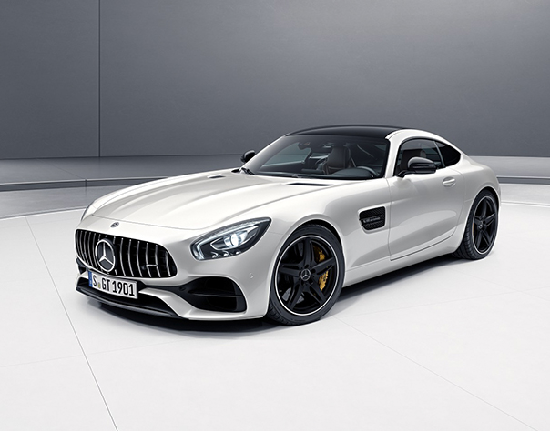 Awesome Front View Of Silver AMG GT.
