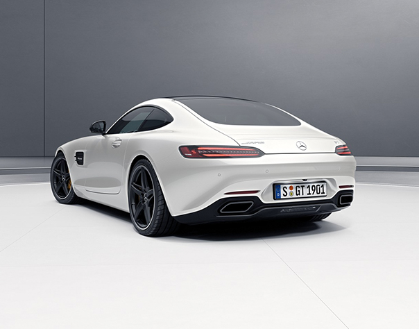 Front View Of Silver AMG GT.