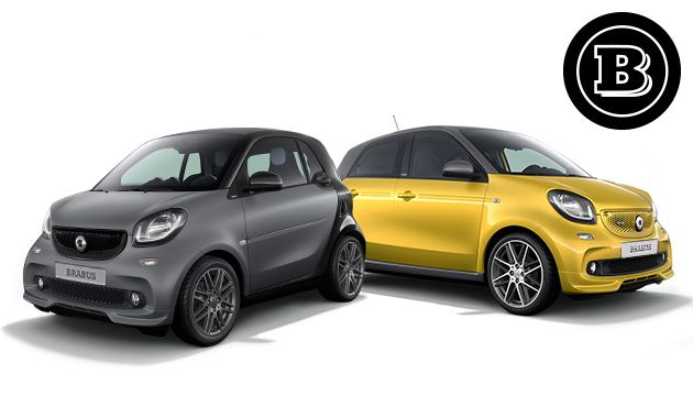 Side view of the smart fortwo coupé edition black or edition white
